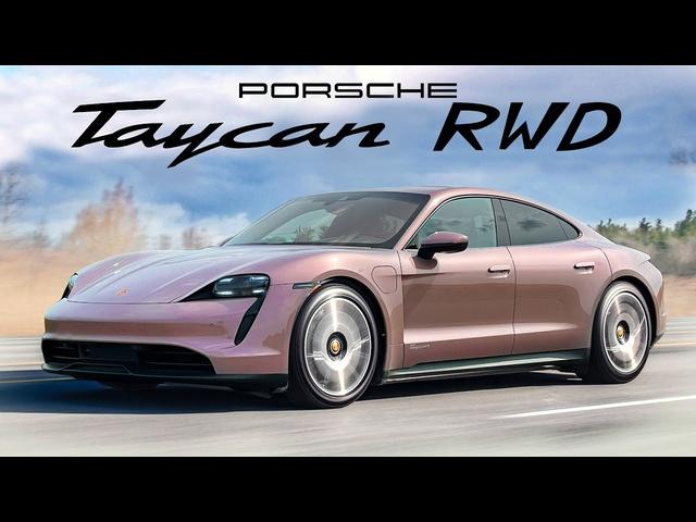 DRIFTS! 2021 Porsche Taycan RWD Review