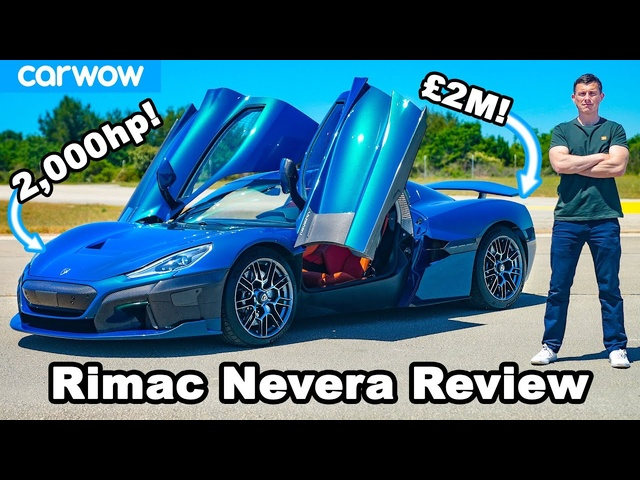 2,000hp Rimac Nevera REVIEW with 0-60mph, 1/4-mile, brake & DRIFT test!