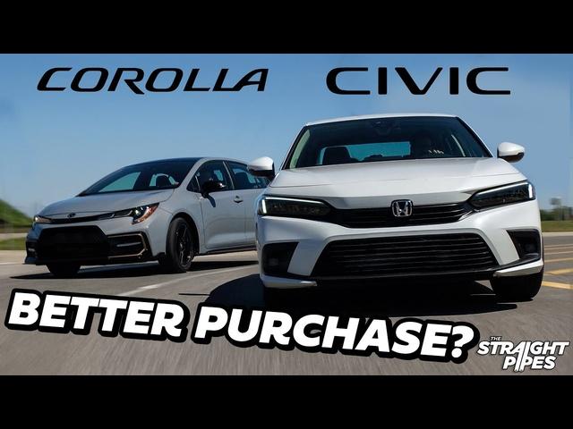 PERFECT! 2022 Honda Civic Vs <em>Toyota</em> Corolla Review