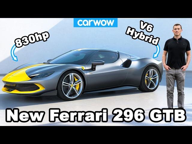 New Ferrari 296 GTB revealed -it's an 830hp hybrid?! ????