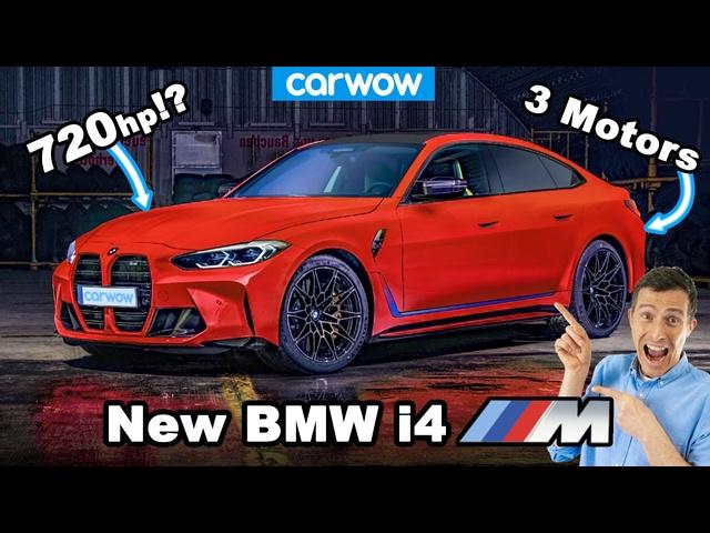 New <em>BMW</em> i4M -the 720hp tri-motor electric M3 killer!