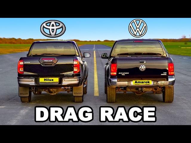 New <em>Toyota</em> Hilux v VW Amarok: DRAG RACE