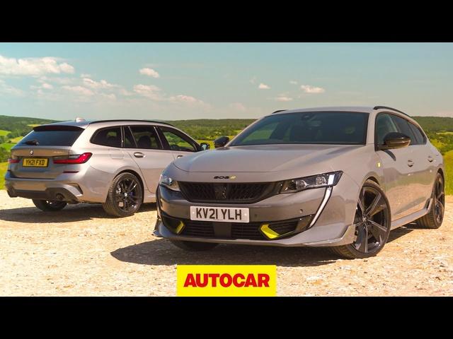 Fast plug-in estate shootout | 508 Peugeot Sport Engineered v <em>BMW</em> 330e | Autocar
