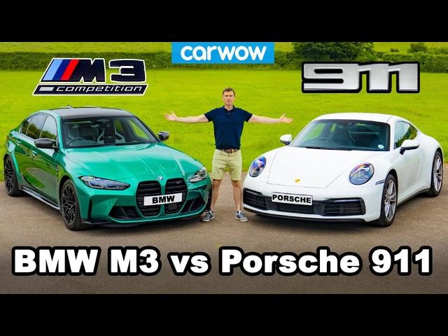 New <em>BMW</em> M3 vs Porsche 911 - REVIEW with 0-60mph & brake test!