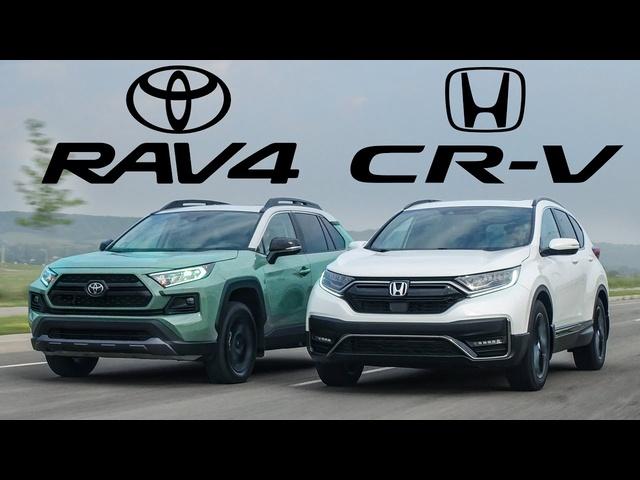 BEST SELLERS! 2021 Honda CR-V vs <em>Toyota</em> RAV4 Review