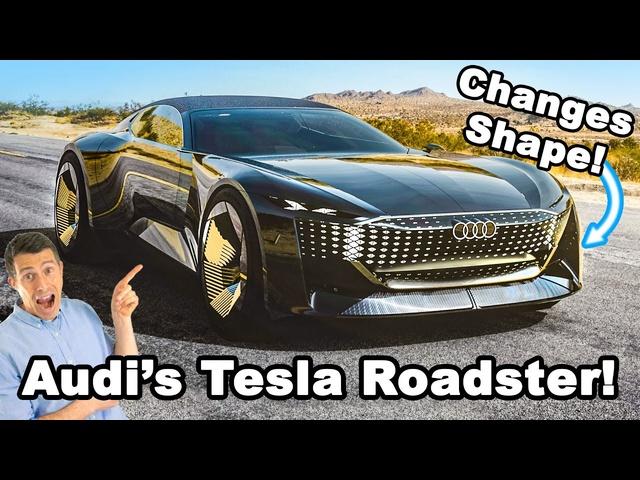 Audi's new Tesla Roadster... it can change shape!?!