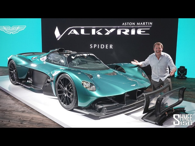 New Aston Martin VALKYRIE SPIDER! First Look and Roof Installation Process
