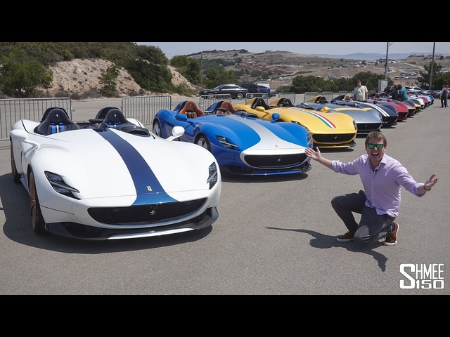 Ferrari Monza RECORD! 33x SP1 and SP2 in $80m Gathering at Car Week