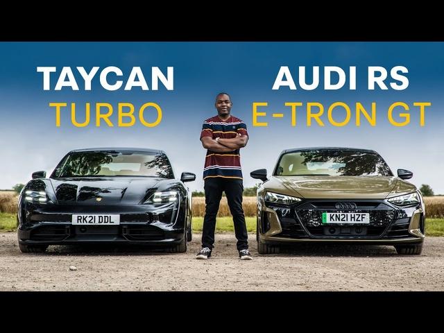 Audi RS E-Tron GT vs <em>Porsche</em> Taycan Turbo: Head To Head   4K