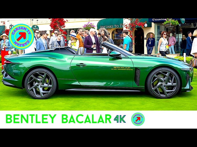 COACHBUILT BENTLEY BACALAR DRIVING 1 OF 12 PEBBLE BEACH 2021 MONTEREY BACALAR PRICE $1.2 CARJAM TV
