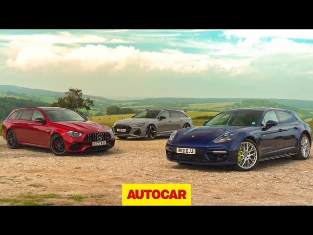 <em>Mercedes</em>-AMG E63 vs Audi RS6 vs Porsche Panamera Turbo S E-Hybrid | Super-estate shootout! | Autocar
