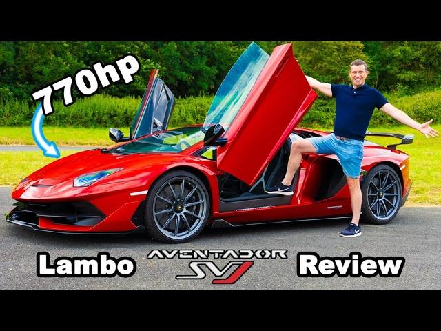 <em>Lamborghini</em> Aventador SVJ review -0-60mph, 1/4-mile & brake test!