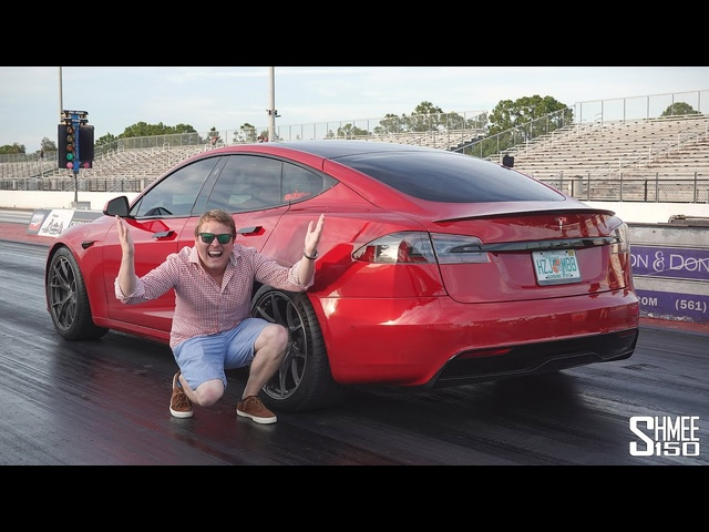 New TESLA PLAID! My First Drive and Fastest 1/4 Mile Drag Races