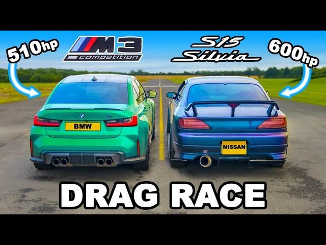 <em>BMW</em> M3 v 600hp Nissan Silvia S15: DRAG RACE