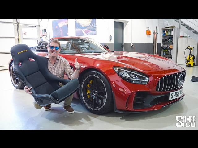 Installing New Custom Bucket Seats for My AMG GT R Roadster! Decat GT Black Series SURPRISE
