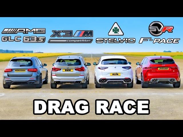 <em>BMW</em> v AMG v Alfa v Jaguar: SUV DRAG RACE