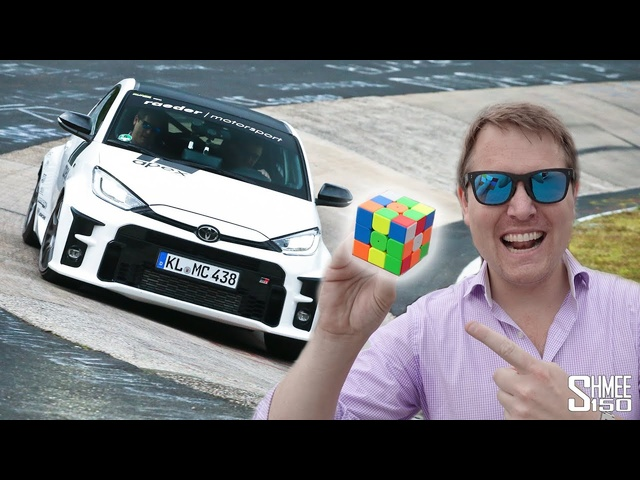 Can ISolve aRubik's Cube FLAT OUT in the GR Yaris at the Nurburgring!?