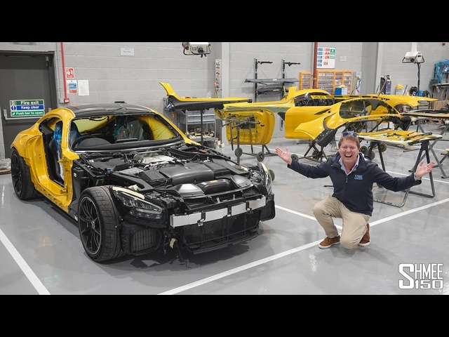 PAINTING My AMG GT Black Series! Transformation to Solarbeam