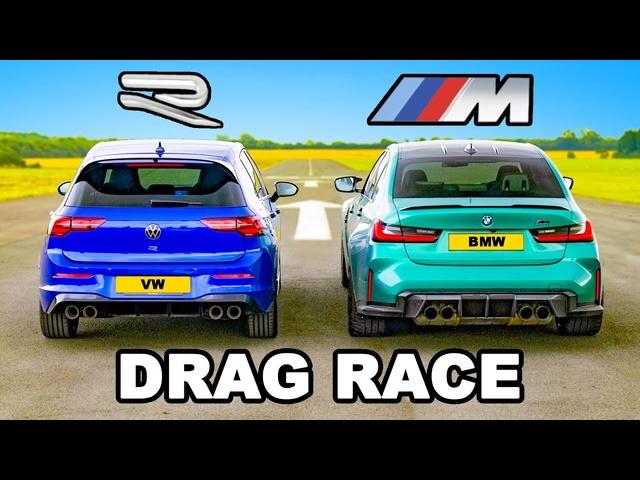 <em>BMW</em> M3 v Golf R: DRAG RACE
