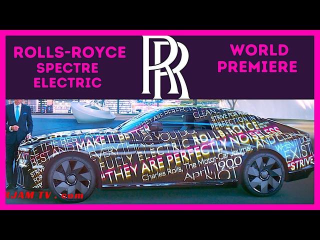 2023 Rolls-Royce Spectre Electric World Premier New Electric Rolls-Royce Wraith Video 4K CARJAM 2021