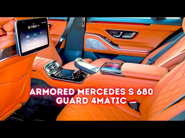 $500k Bombproof S Class SEALED Interior + Oxygen 2022 Mercedes S Class Guard New Bullet Proof S680