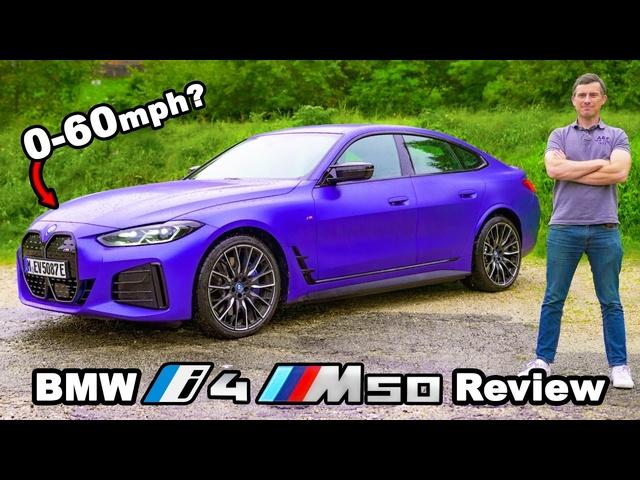 <em>BMW</em> i4 M50 review -quicker 0-60mph than an M3?