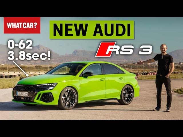 NEW Audi RS3 review – 180mph hot hatch driven + 0-60mph test! | What Car?