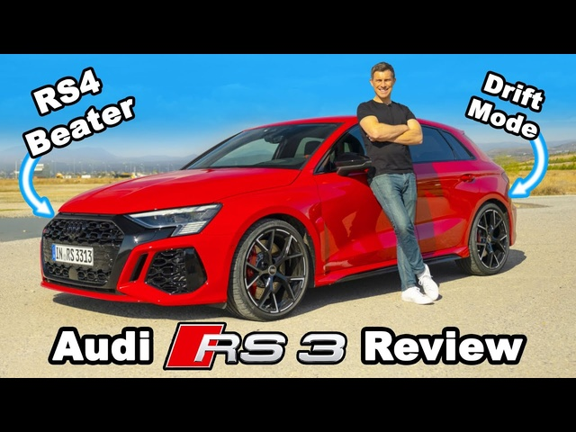 New Audi RS3 review -its 0-60mph & 1/4 mile will blow your mind!